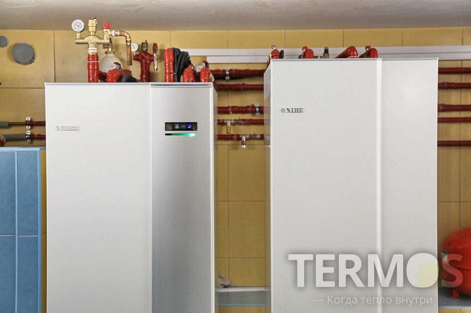 Дом 350 кв м Геотермальный тепловой насос NIBE (Швеция) 16 кВт
