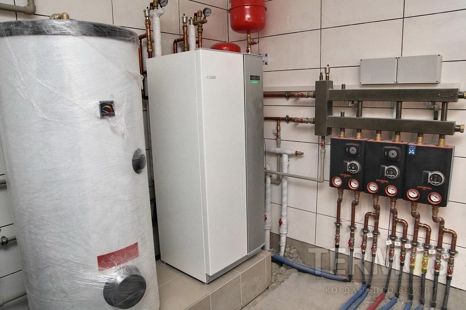 Дом 350 кв м Геотермальный тепловой насос NIBE (Швеция) 17 кВт