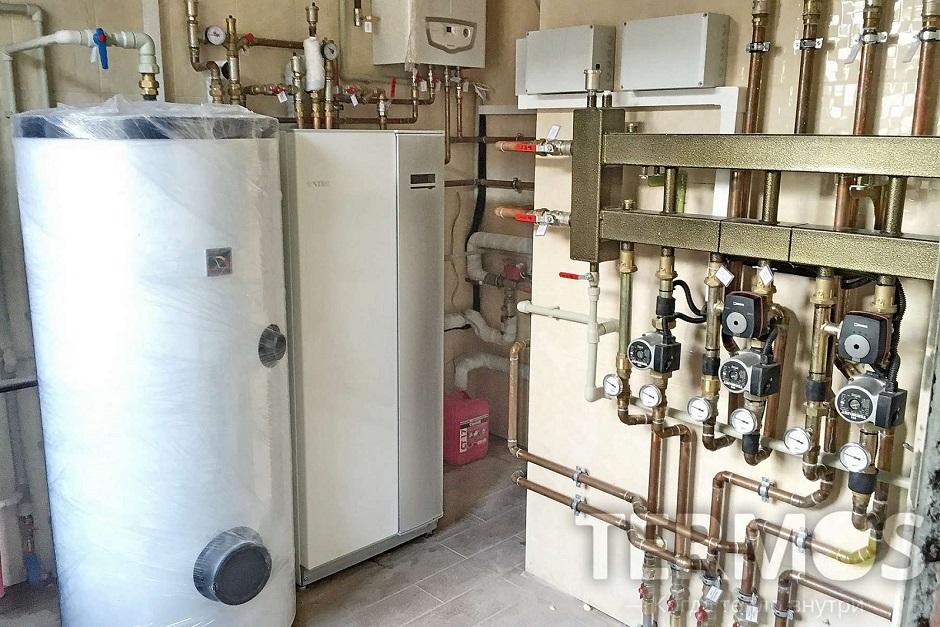 Дом 350 кв м Геотермальный тепловой насос NIBE (Швеция)  16 кВт с пассивным охлаждением