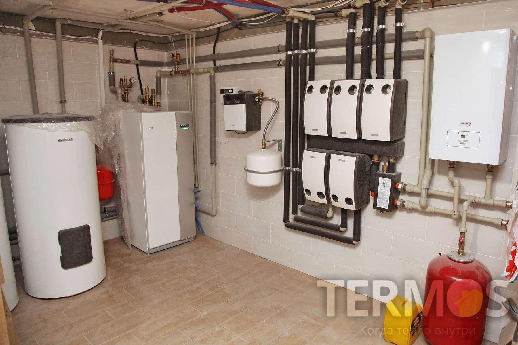 2016 год. Киев. Дом 350 кв м Mодернизация системы отопления - замена газового котла на инверторный геотермальный тепловой насос.