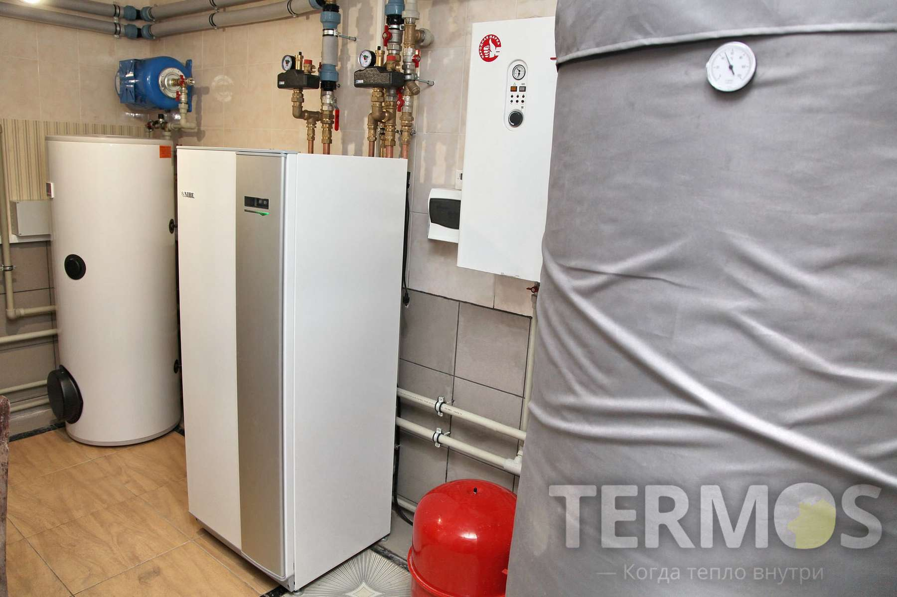 2016 год. Киев. Дом 250 кв м. Mодернизация системы отопления - замена газового котла на геотермальный тепловой насос NIBE (Швеция) 12 кВт