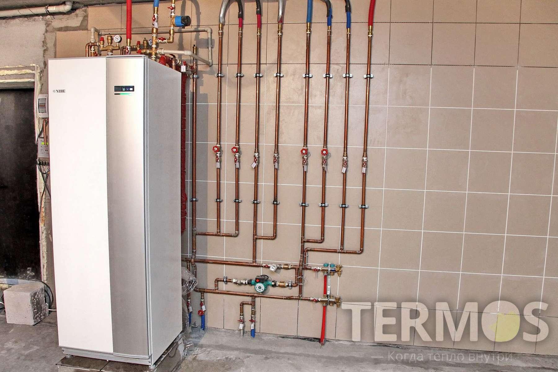 2015 год, Киев. Дом 200 кв м Экономичная система отопления, на геотермальном тепловом насосе NIBE (Швеция) 10 кВт, с тремя геотермальными скважинами по 70 м