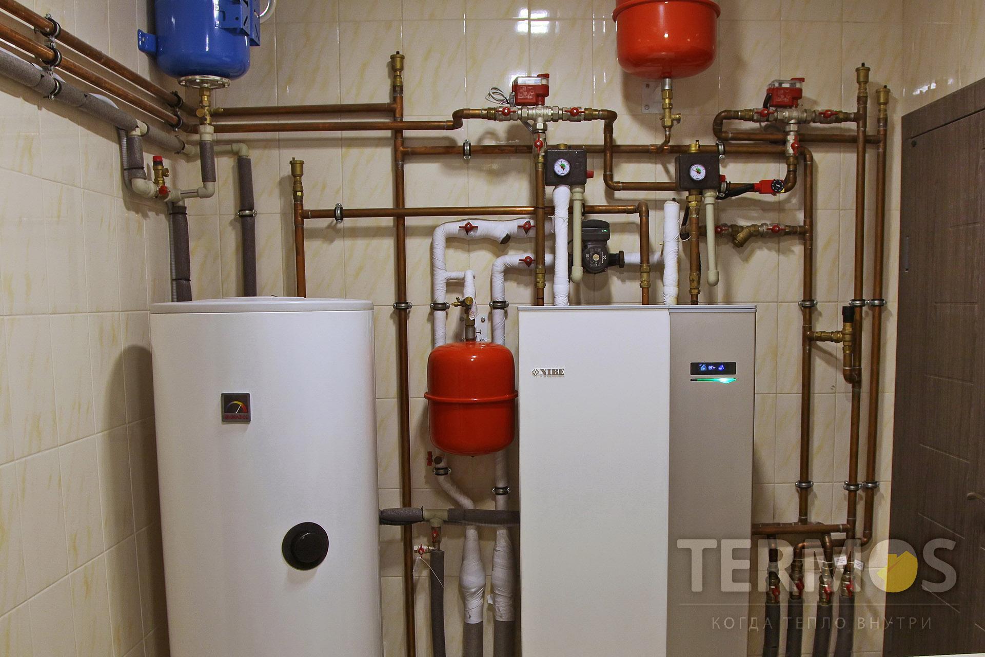 2017 год,  Святопетровское. Дом 200 кв м. Экономичная система отопления, на геотермальном тепловом насосе NIBE (Швеция) 10 кВт, с 3 геотермальными скважинами по 75 м.