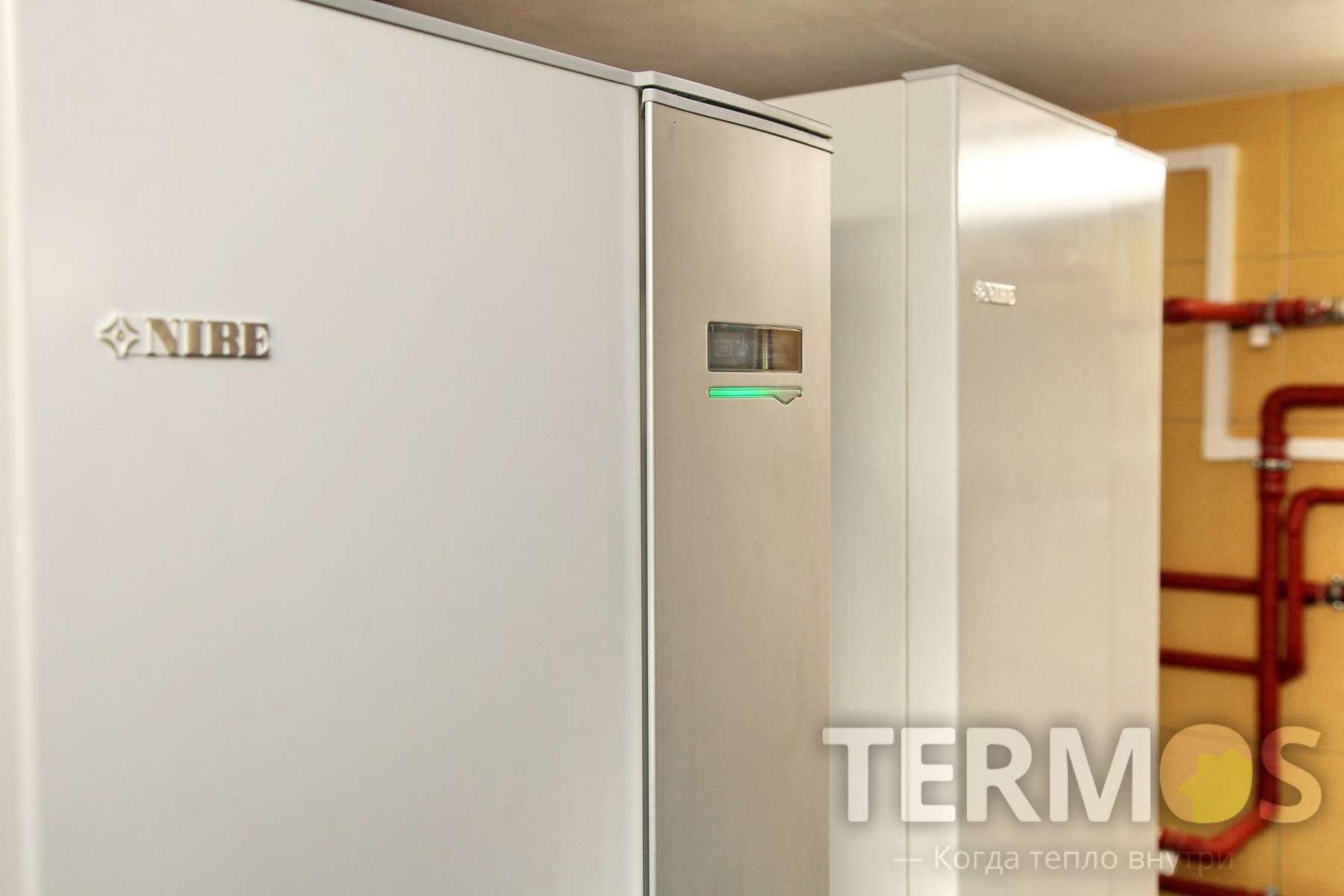 Сумы. Дом 350 кв м. Геотермальный тепловой насос NIBE (Швеция) 16 кВт, с пятью геотермальными скважинами по 75 м