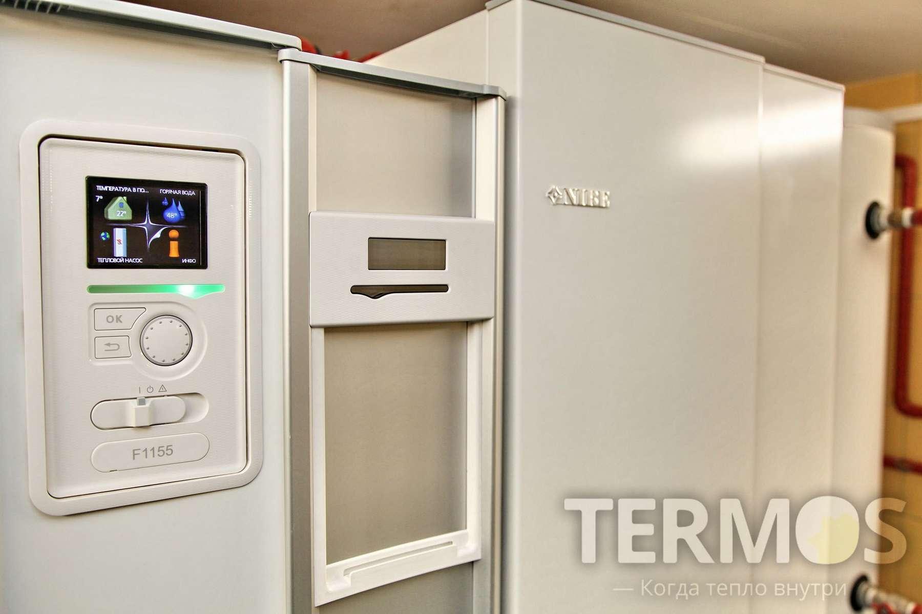 Сумы. Дом 350 кв м. Эффективная система отопления на геотермальном тепловом насосе NIBE F1155 16 кВт, c коэффициентом COP – 5,12