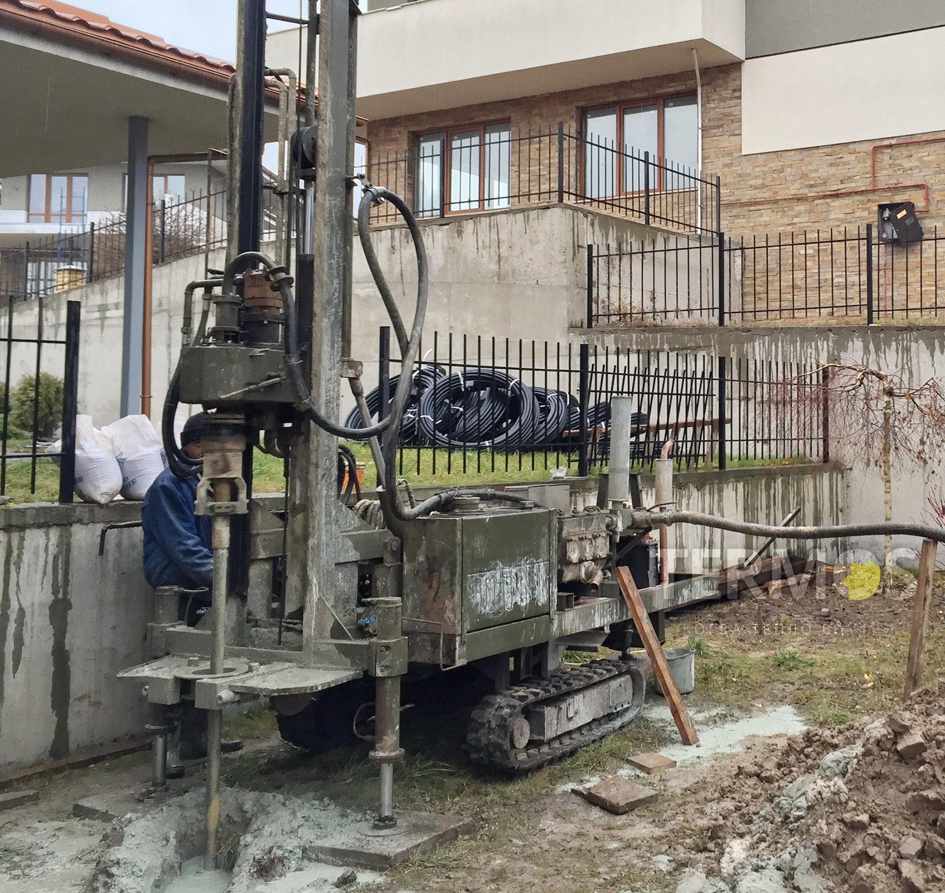Монтаж геотермальных скважин