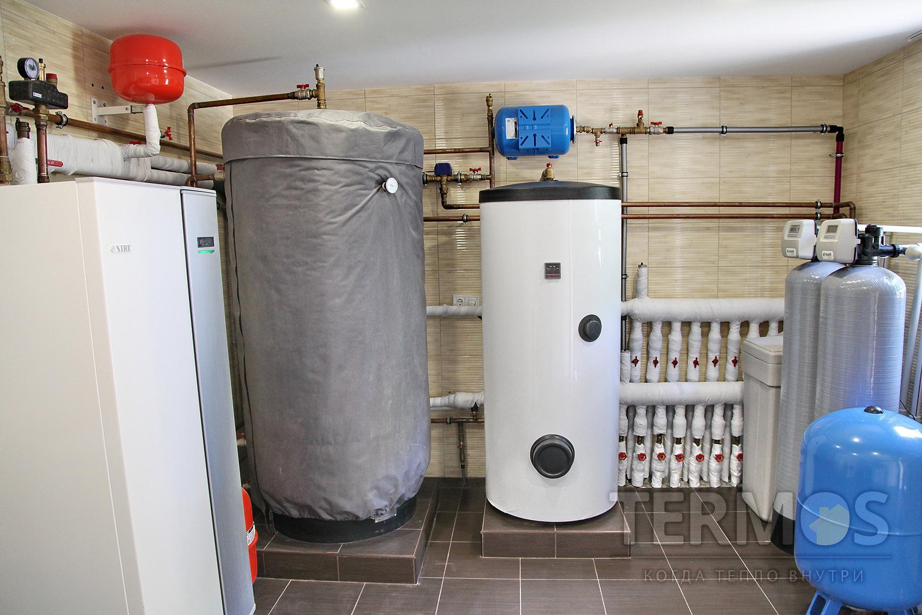 2016 год, с. Мархалевка. Дом 260 кв м Система отопления на геотермальном тепловом насосе NIBE (Швеция) 12 кВт, с 5 скважинами по 55 м