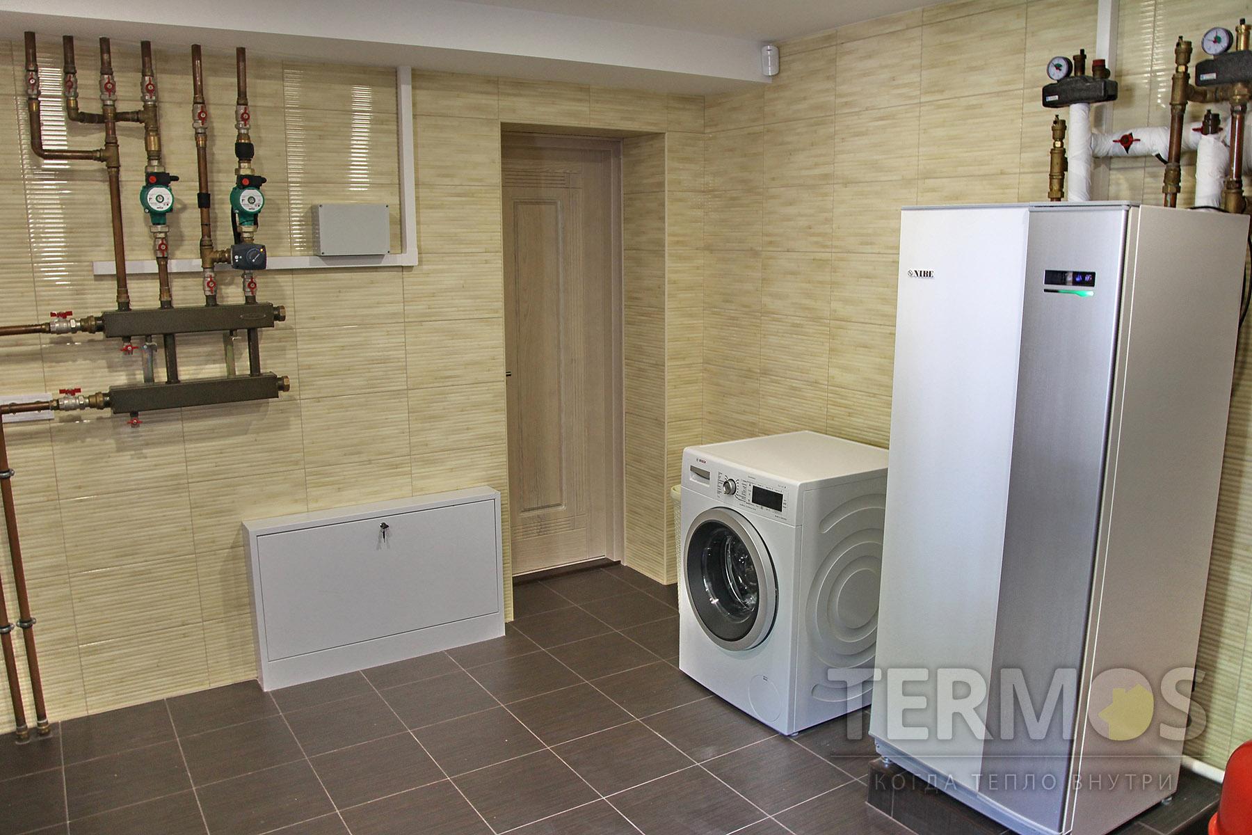 2016 год, с. Мархалевка. Дом 260 кв м. Низкотемпературная система отопления обеспечивает работу теплового насоса с высоким COP