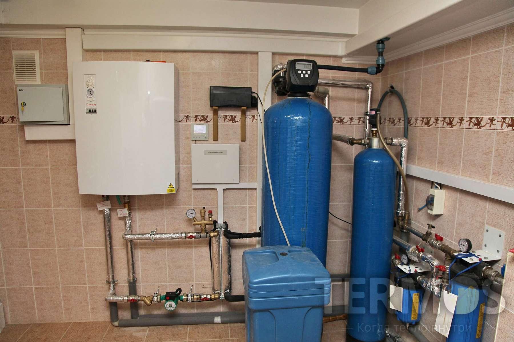 При температуре -11 ⁰С на улице, система автоматически переключается на конденсационный газовый котел