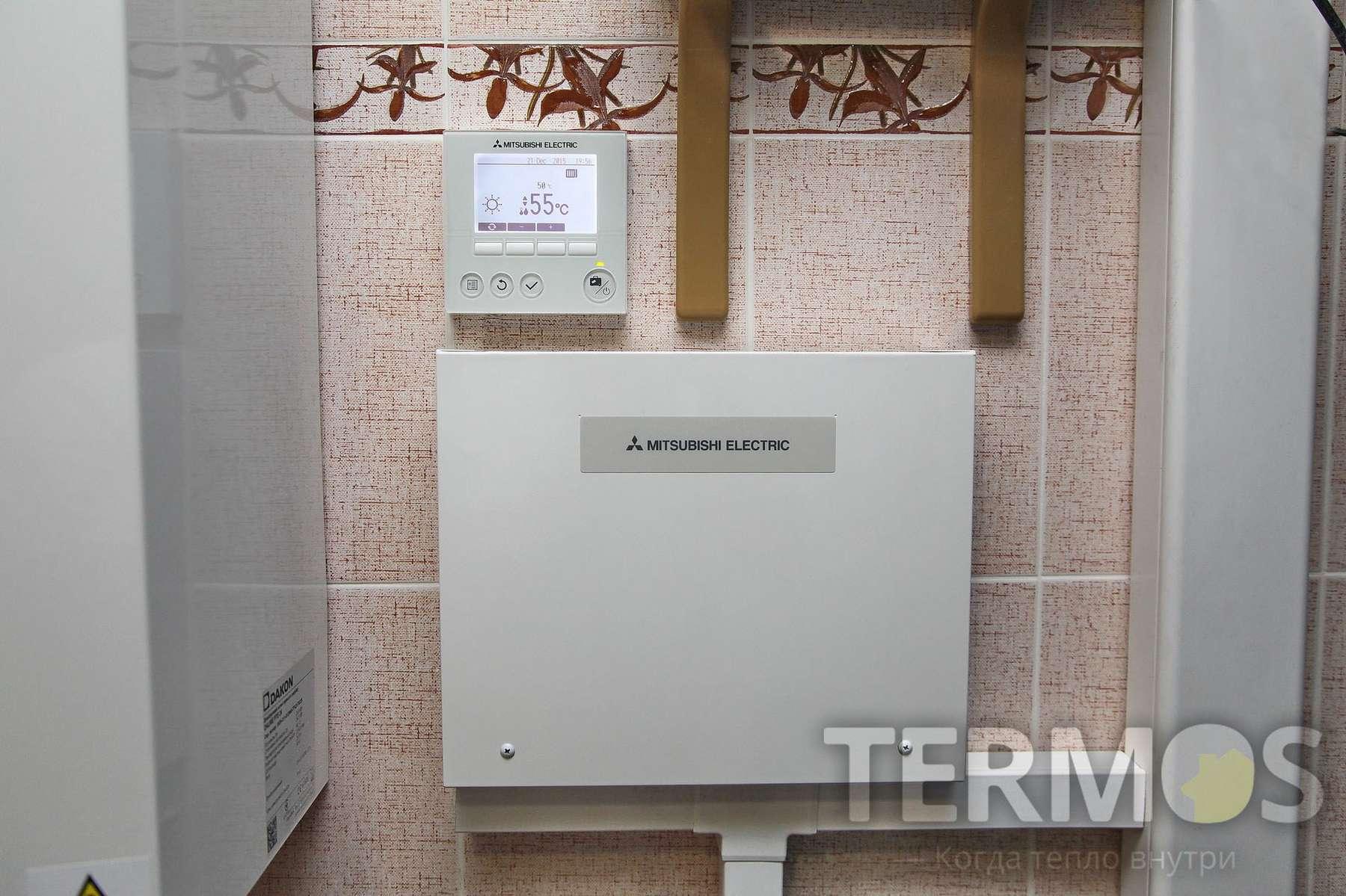 Автоматика воздушного теплового насоса обеспечивает работу системы в режимах отопления и горячего водоснабжения
