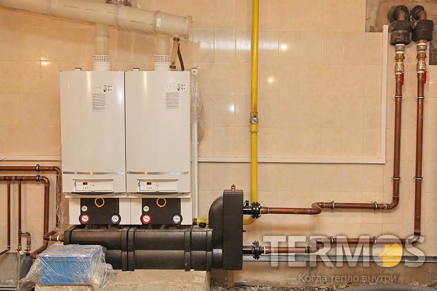 Какскад из 2-х котлов Buderus Logamax plus GB162 100 кВт и дизельный резервный котел