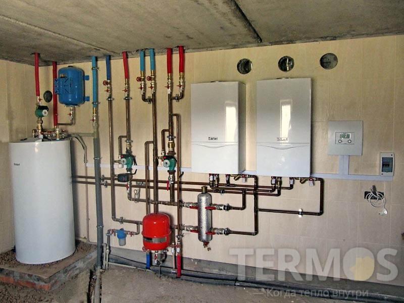 Газовые котлы Vaillant atmoTEC plus 2 x 28 кВт