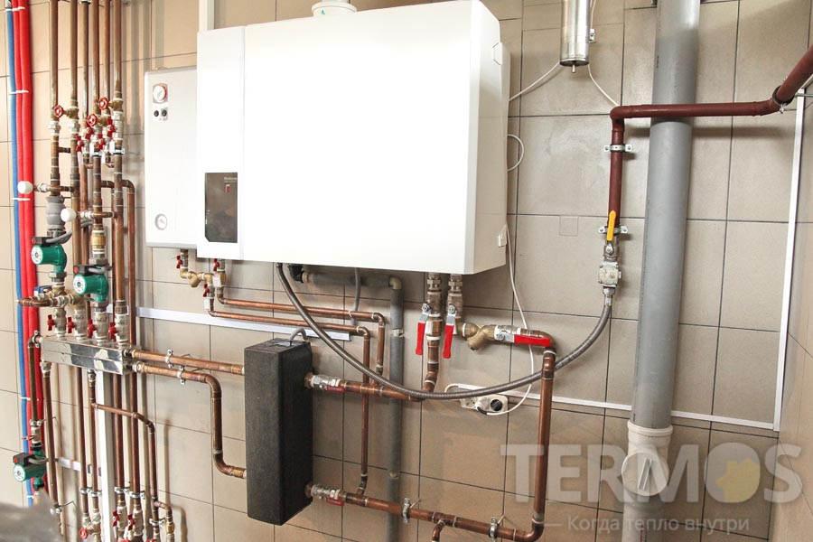 Котел Buderus Logamax plus GB112 60 кВт + электрокотел Kospel 30 кВт