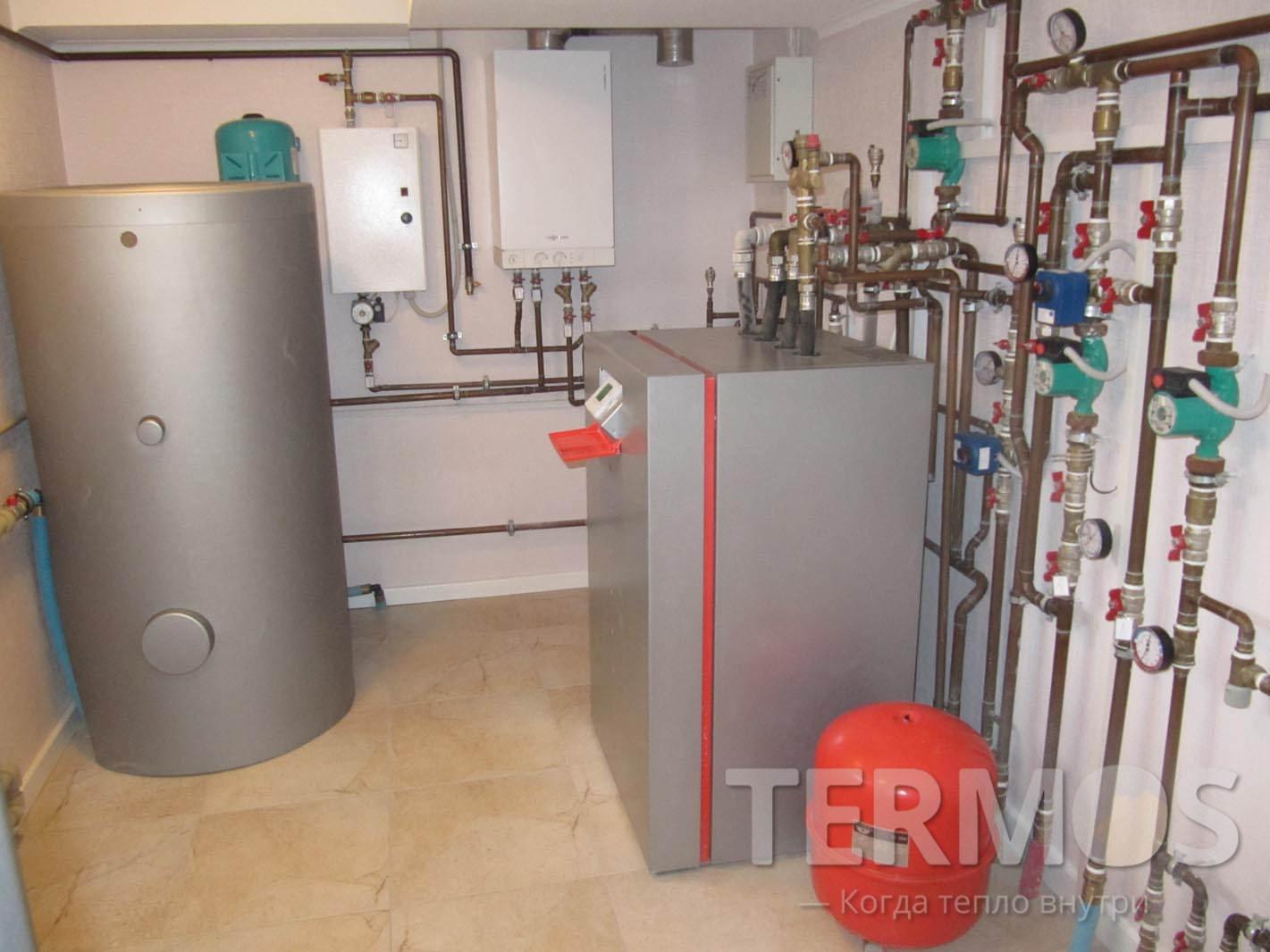 2007 год. Пуховка. Система отопления на геотермальном тепловом насосе VIESSMANN Vitocal 17 кВт