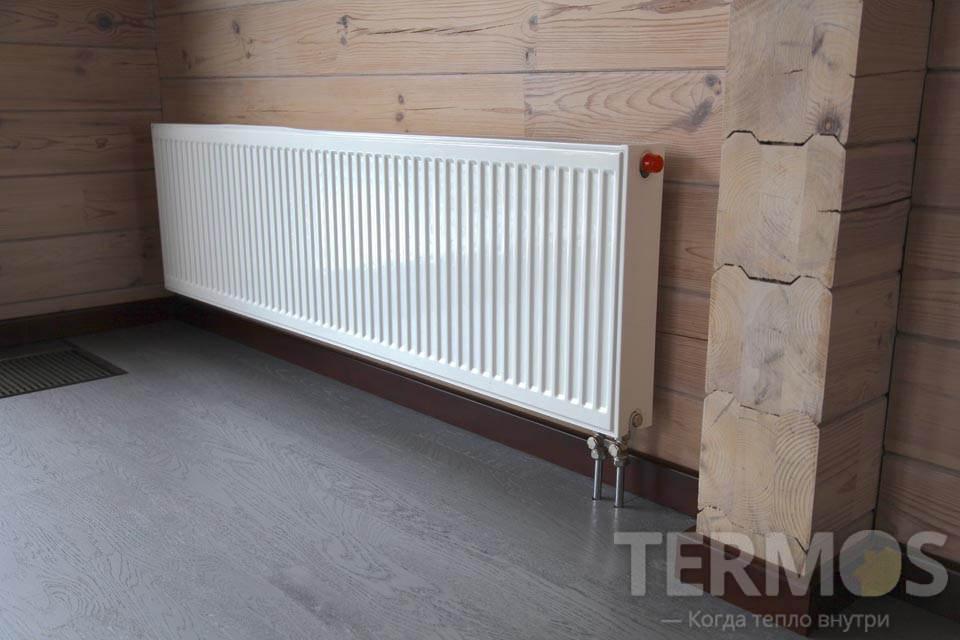 Стальной панельный радиатор E.C.A с нижним подключением из пола