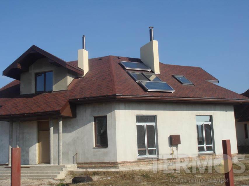Плоские солнечные коллекторы Vaillant для приготовления горячей воды