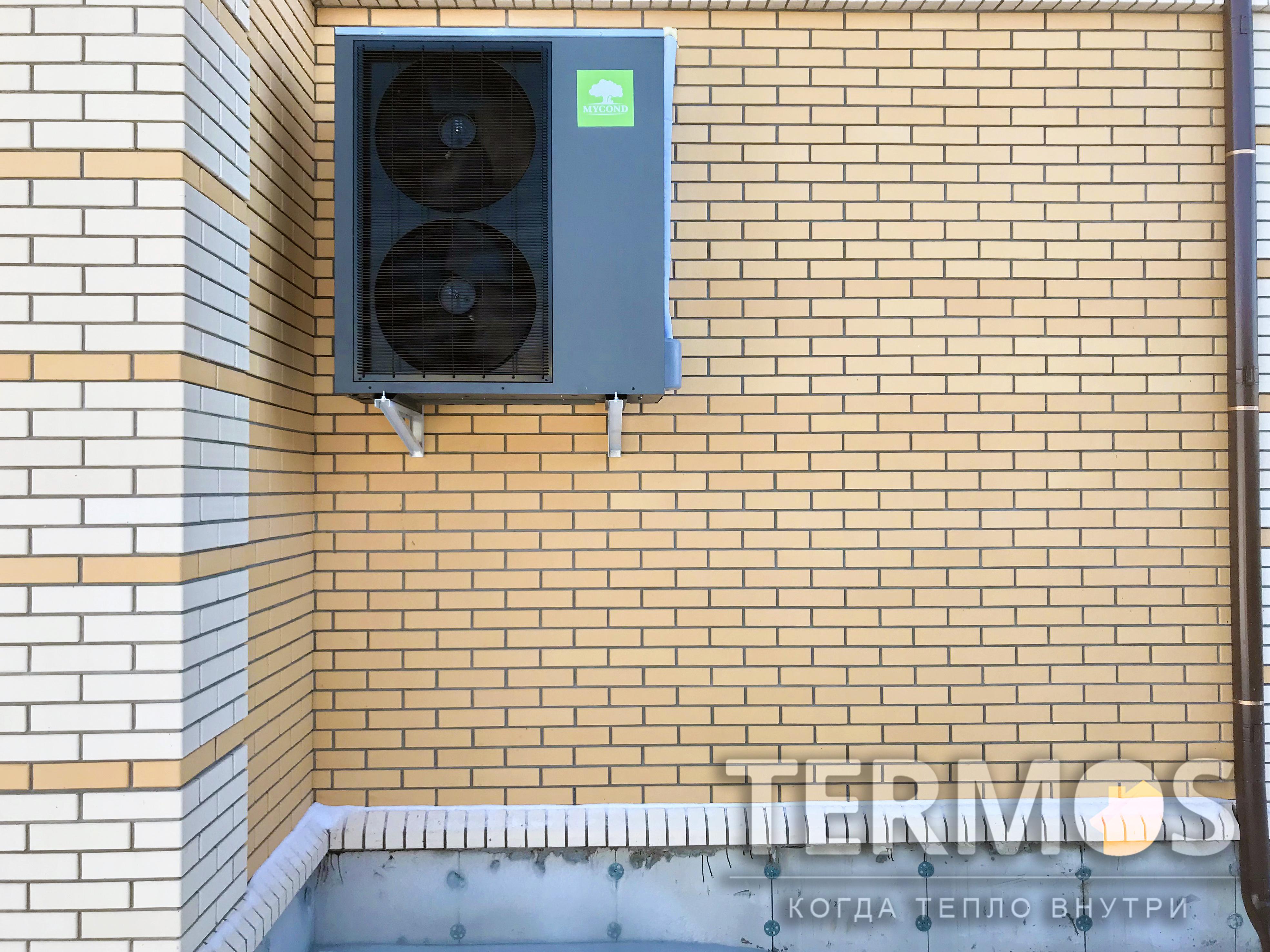 Дом 250 кв м. Воздушный реверсивный (тепло/холод) тепловой насос Mycond Arctic Home SMART 19 кВт. Электрический котёл Protherm 18 кВт в качестве дополнительного нагрева