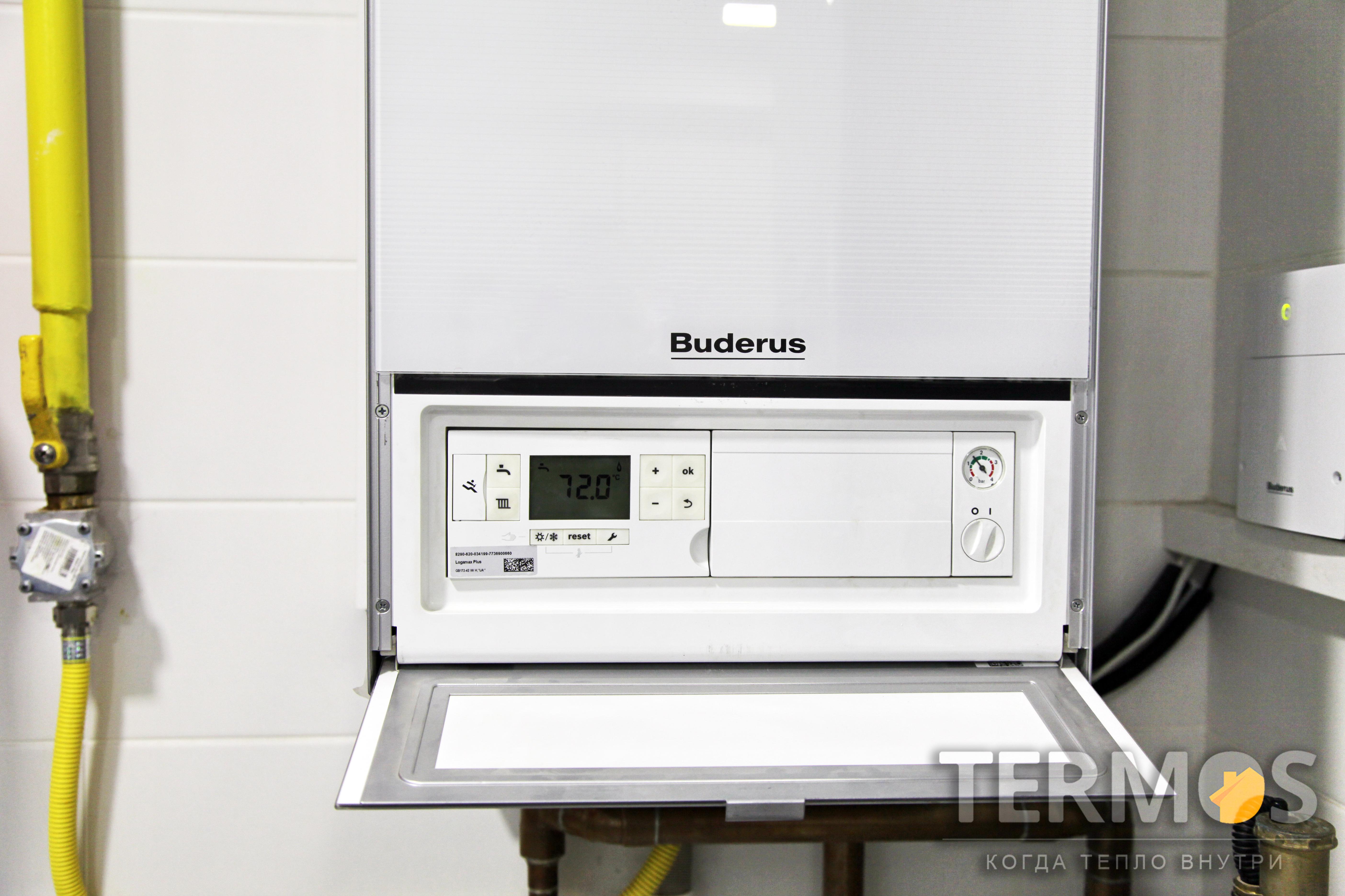 Конденсационный котел Buderus Logamax GB172 42 кВт с номинальным коэффициентом использования 109 %