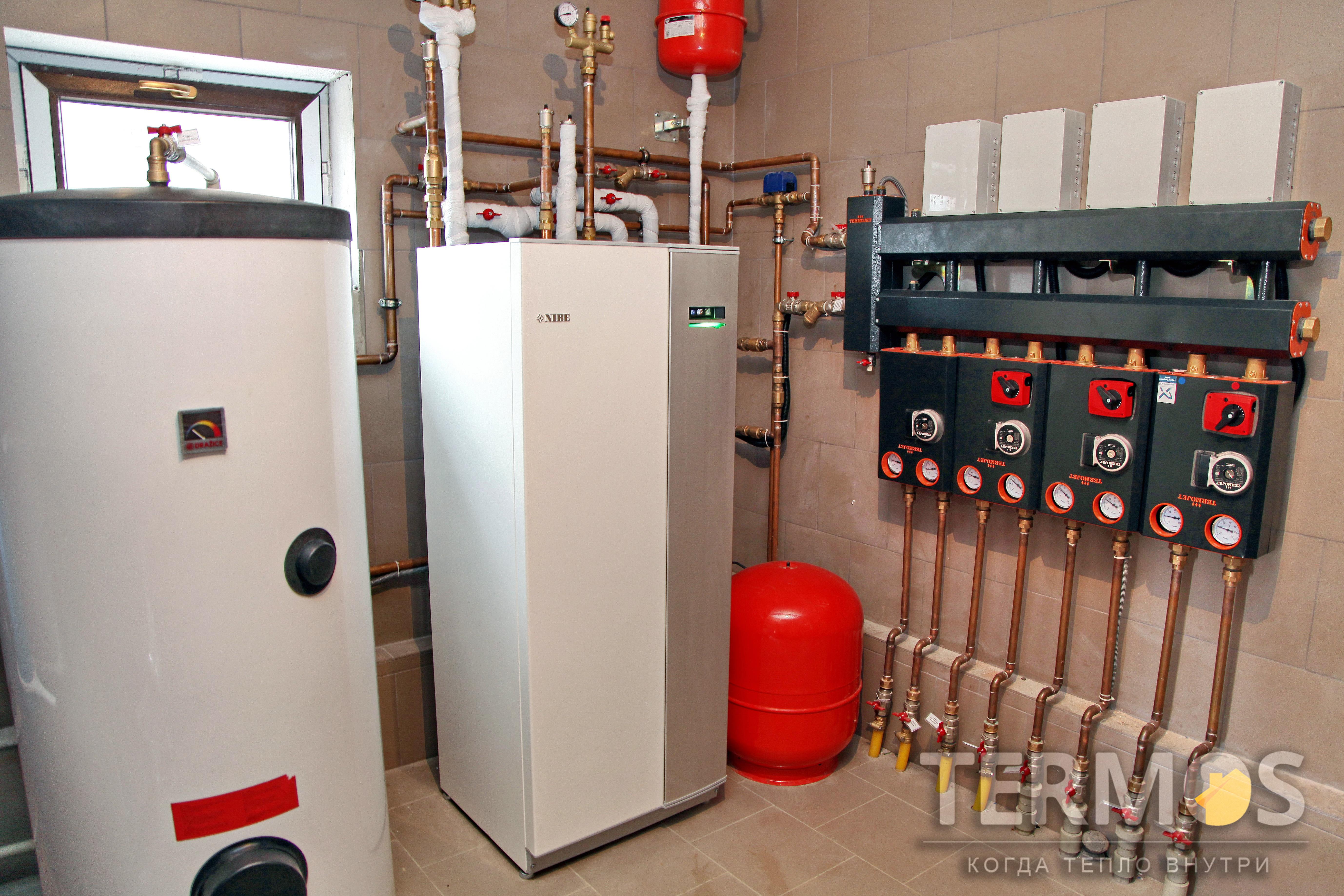 Инверторный высокоэффективный  тепловой насос NIBE F1155 16 кВт (COP 5,12)