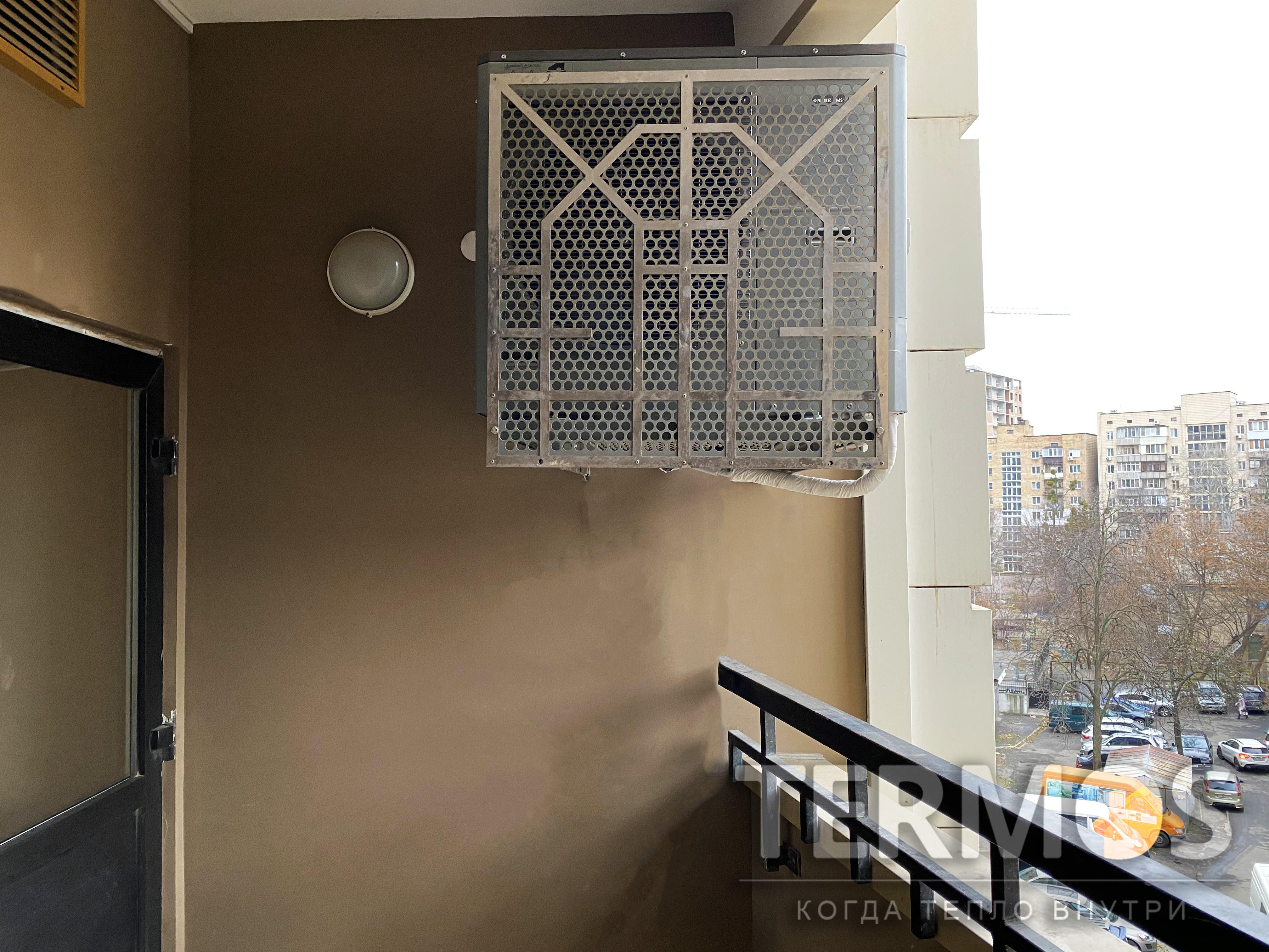 Квартира 150 кв м. Тепловой насос NIBE (Швеция) 12 кВт с функциями отопления, приготовления горячей воды, охлаждения квартиры летом