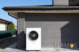 """2020 год Проект """"Золоче"""" - коттедж 320 м2 - воздушный тепловой насос BOSCH 17 кВт, с солнечными коллекторами"""