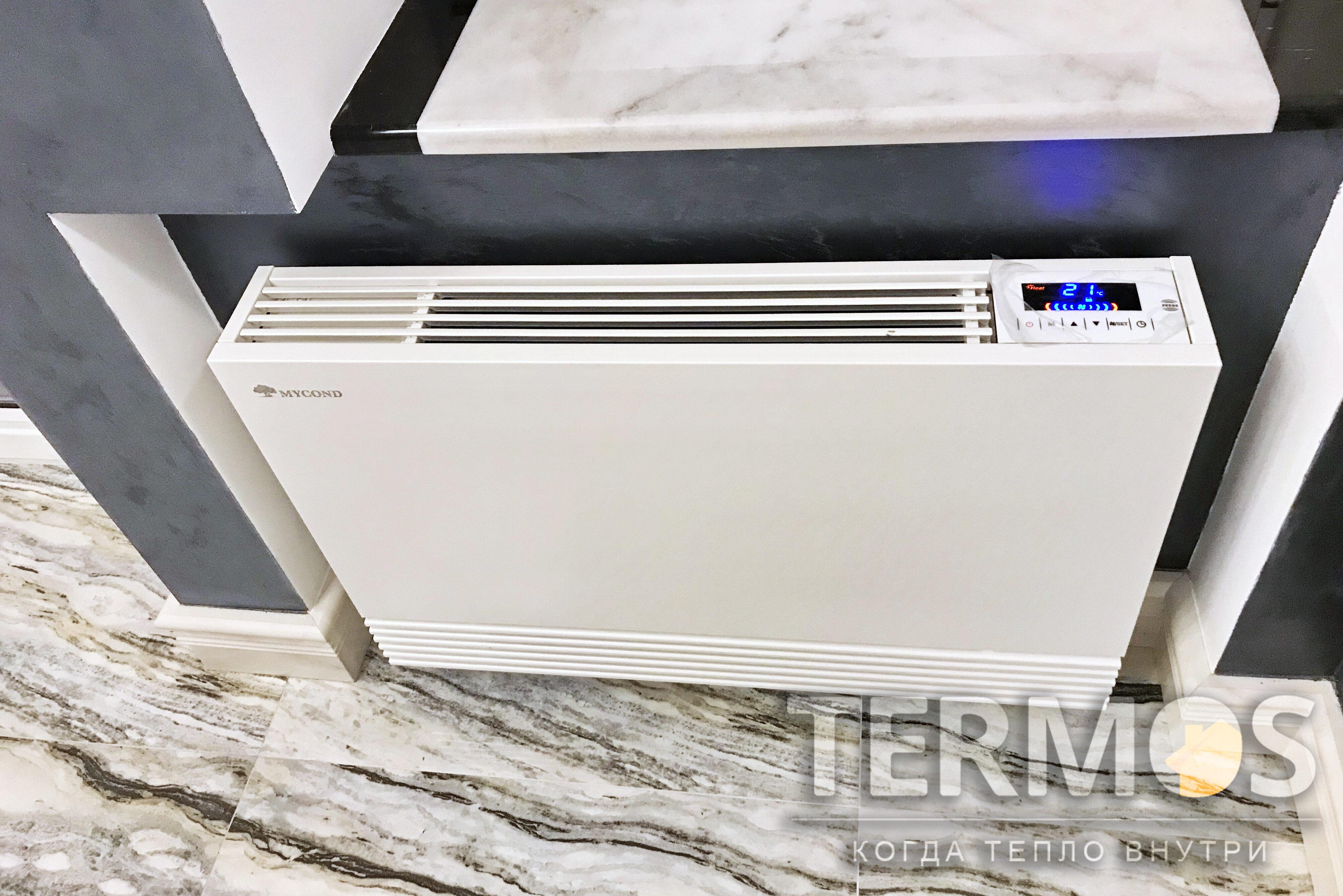 Для эффективной работы фанкойл оснащен встроенным многоскоростным вентилятором