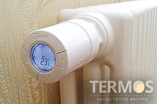 Трубчатые радиаторы могут оснащаться механическим терморегулятором, а также электронным беспроводным терморегулятором