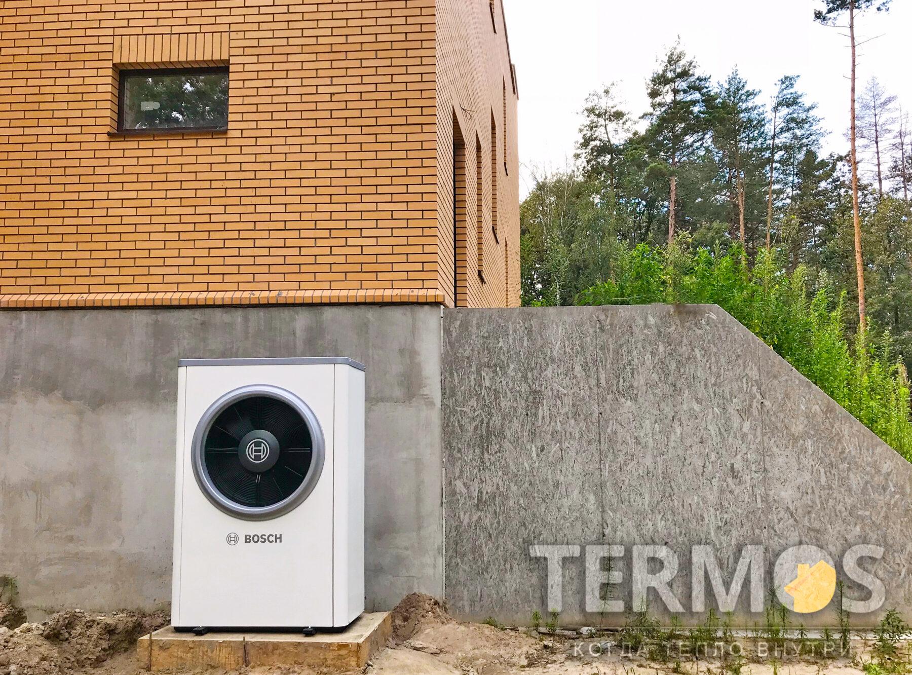 Стоинка. Коттедж 300 кв.м. Воздушный тепловой насос Bosch 17 кВт
