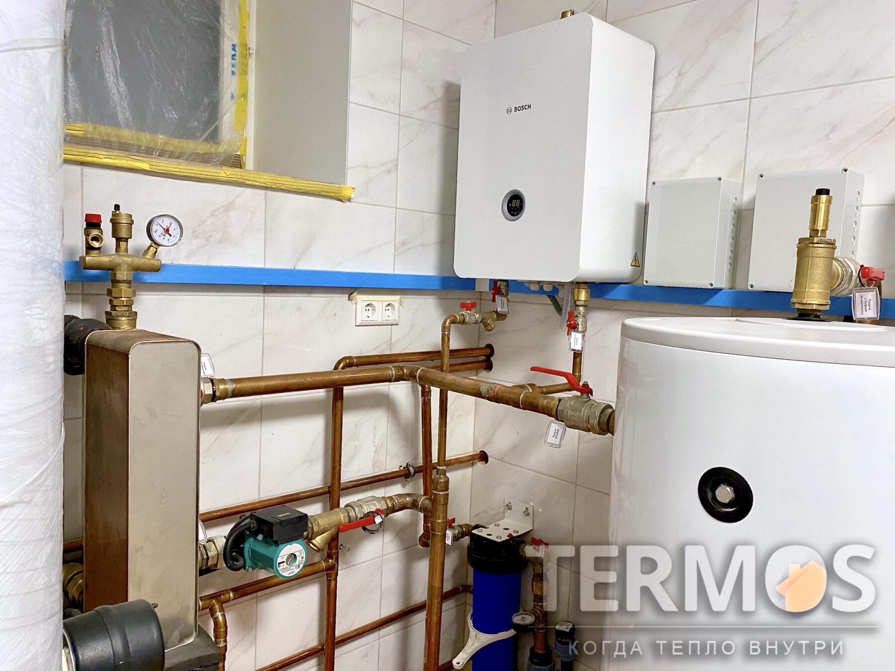 Резерв теплового насоса - электрокотел Bosch