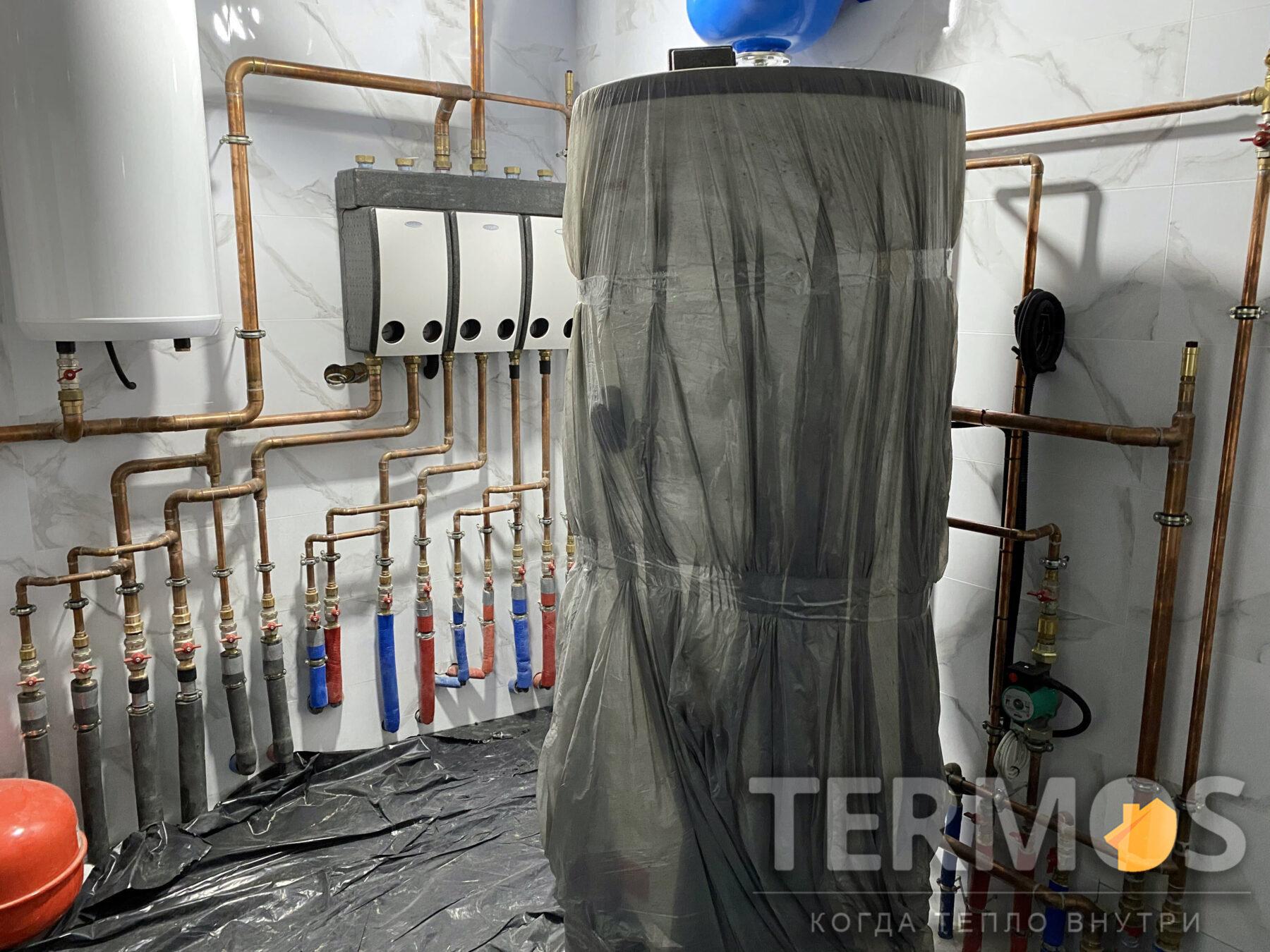 Бойлер непрямого нагріву 500 л. зі збільшеним теплообмінником. Забезпечує приготування гарячої води