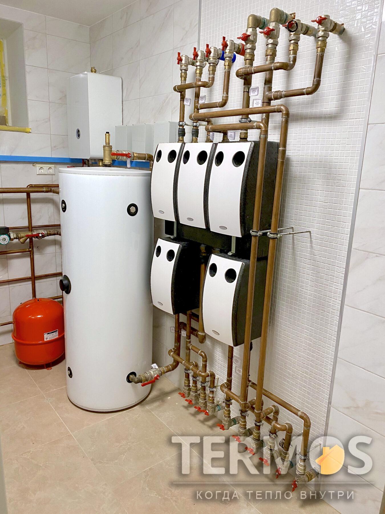 Тепловой насос автоматически переходит в необходимый режим (отопление/гвс/охлаждение). Тепловой насос управляется и настраивается через интернет