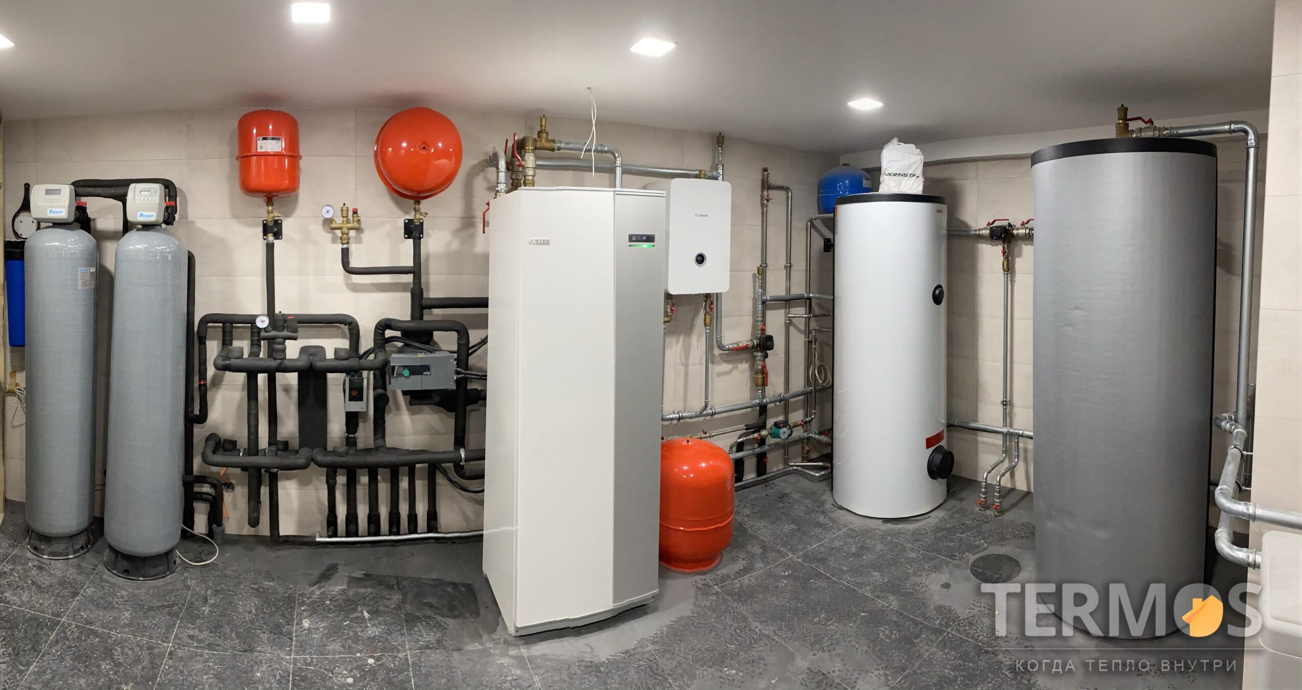 Геотермальный тепловой насос NIBE 40 кВт, 12 скважин по 80 м