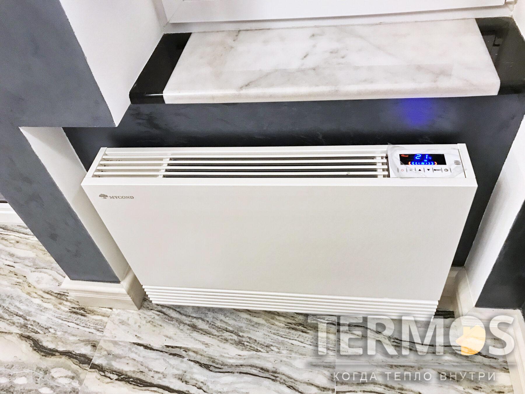 Настенный фанкойл, работает как на нагрев так и на охлаждение помещения
