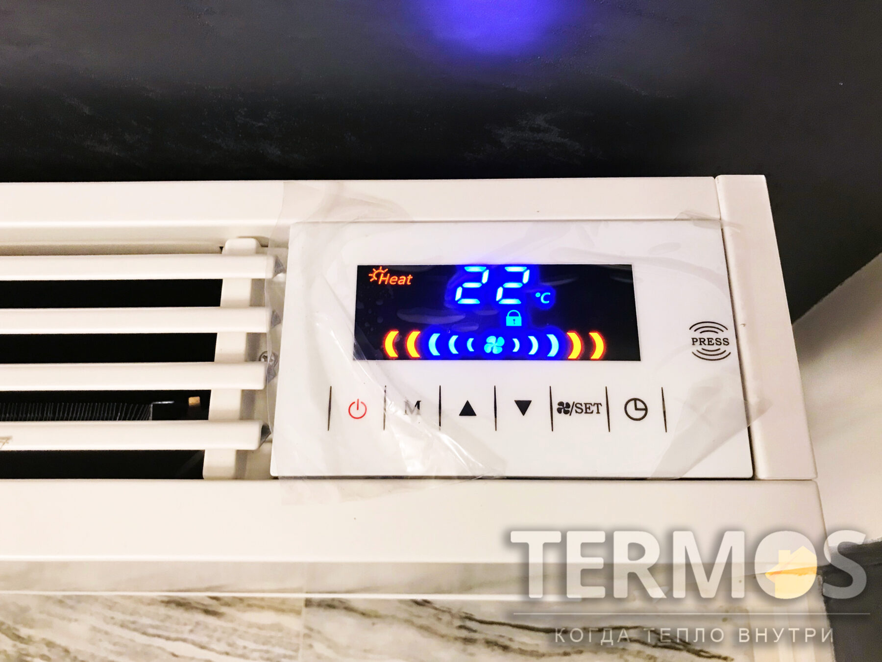 Фанкойл в автоматическом режиме поддерживает заданную температуру в помещении